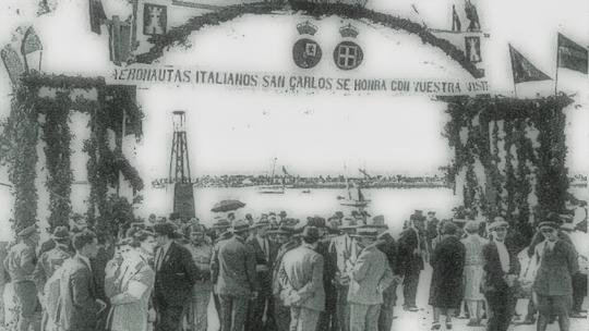 Arc de benvinguda a la Ràpita.